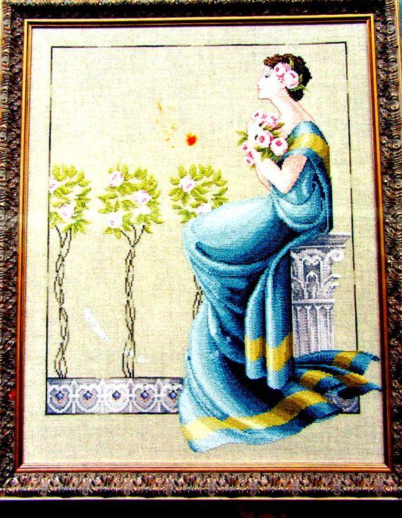 MIRABILIA  Cross Stitch Damask Roses  by RozziesCraftCorner, $12.00