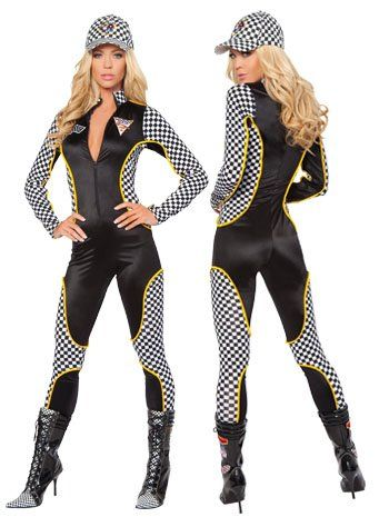 67b88d3c390 Wanna Race Sexy Danica Racer Costume - SMALL MEDIUM  Amazon.com  Clothing