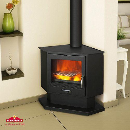Impressive Corner Wood Burning Fireplace | Lakehouse ...