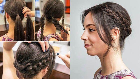 Peinados Para Fiesta Con Trenzas2 Navidad Pinterest Peinados
