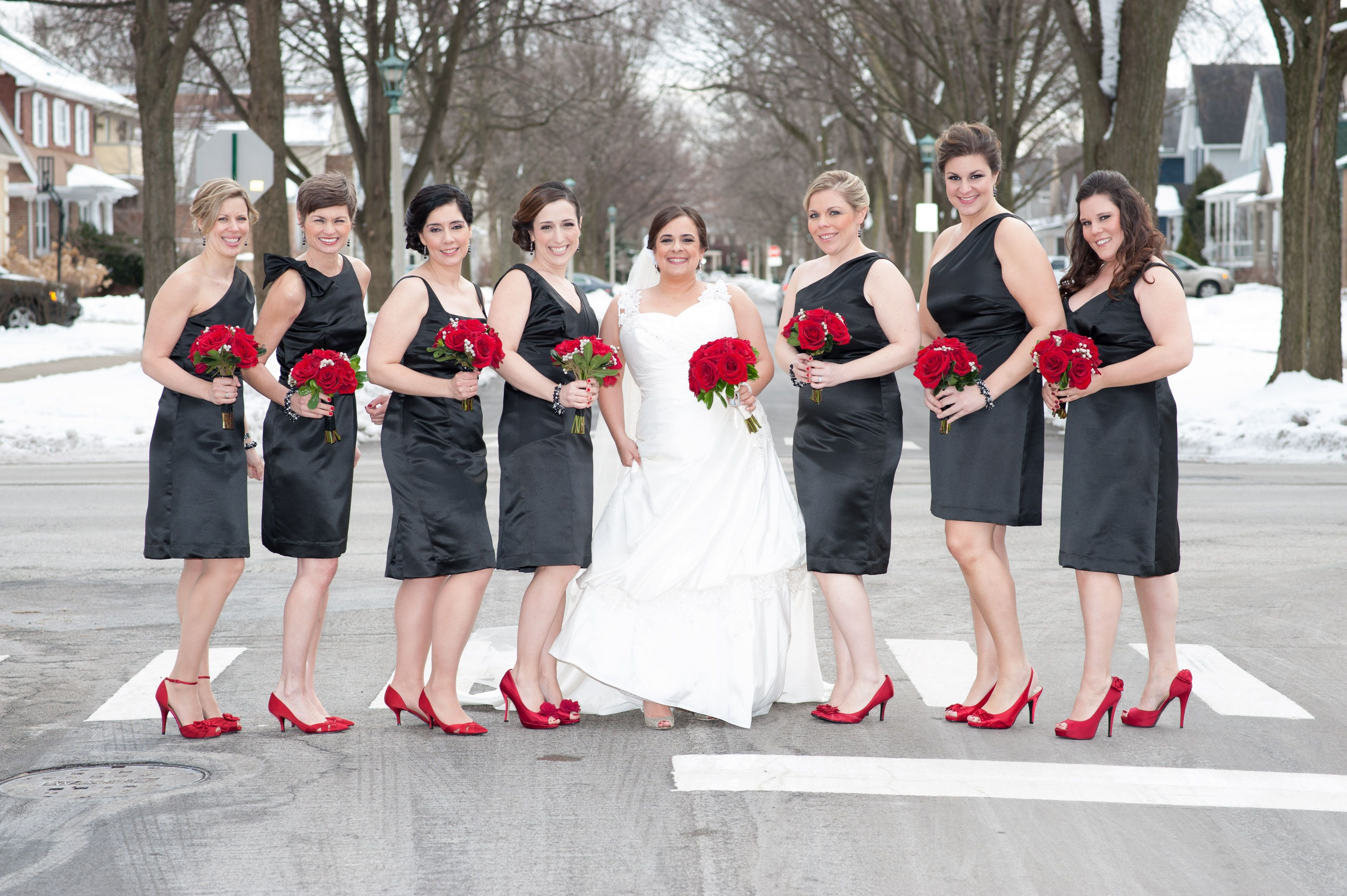 Various styles by anna elyse in black satin paired with red shoes like the black dress with red heels idea just not a fan of these particular dresses ombrellifo Image collections