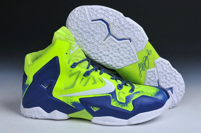 huge selection of ba11a df710 Lebron 11 Sprite Lime Green Photo Blue