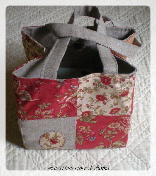 Sac carr patchwork avec tuto couture pinterest - Tuto patchwork gratuit ...
