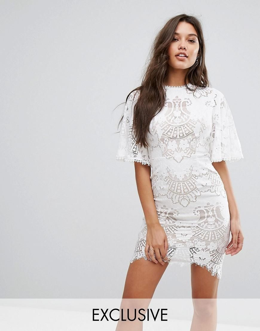 Bodycon maxi dress white love