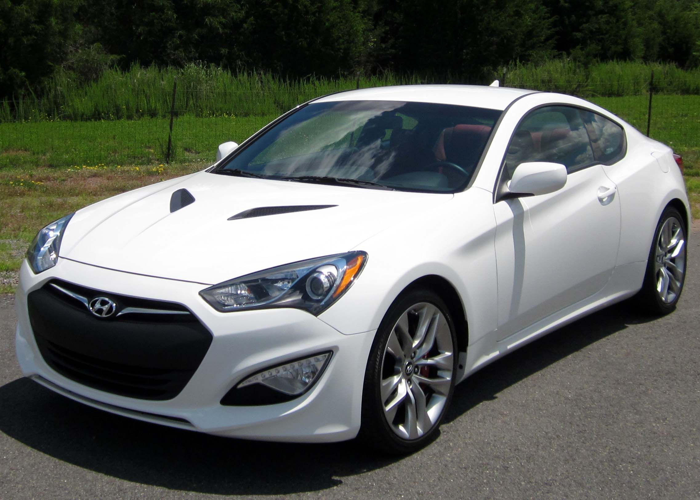 My future baby 2013 hyundai genesis coupe white with red interior
