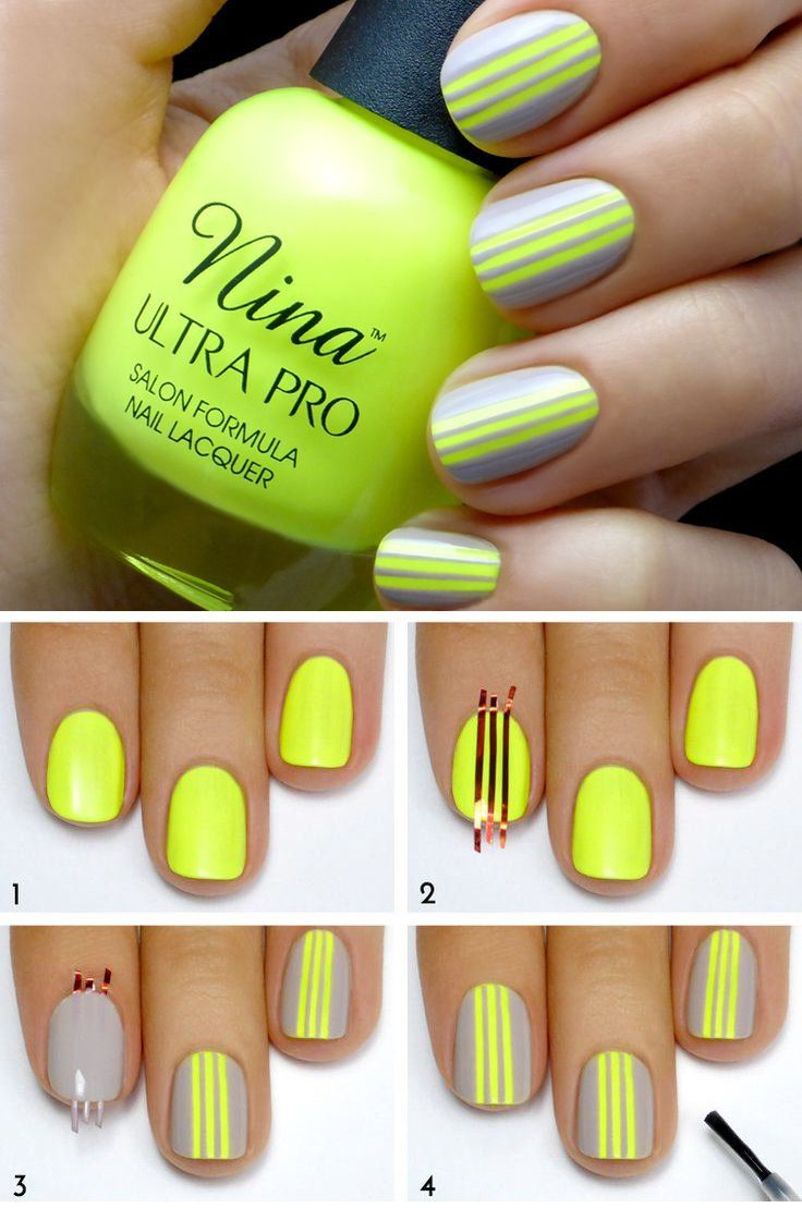 Asombroso Diseño De Arte De Uñas De Color Amarillo Motivo - Ideas de ...