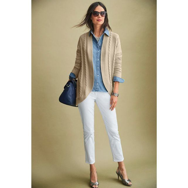 d6ad73265b4 Collection Anne Weyburn printemps été 2017 - chemise légère chic et  décontractée en jean avec des