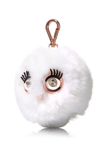 White Flulffy Owl Pocketbac Holder Bath And Body Works Bath