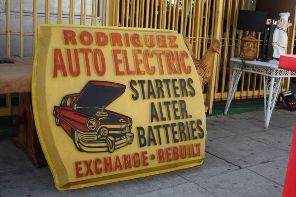 For A Retro 1960 S Vintage Sign From California Auto Electric Bright