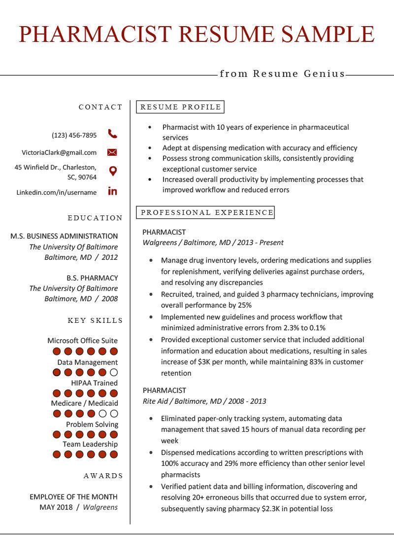 Pharmacy Technician Resume Objectives Fantastic Pharmacist