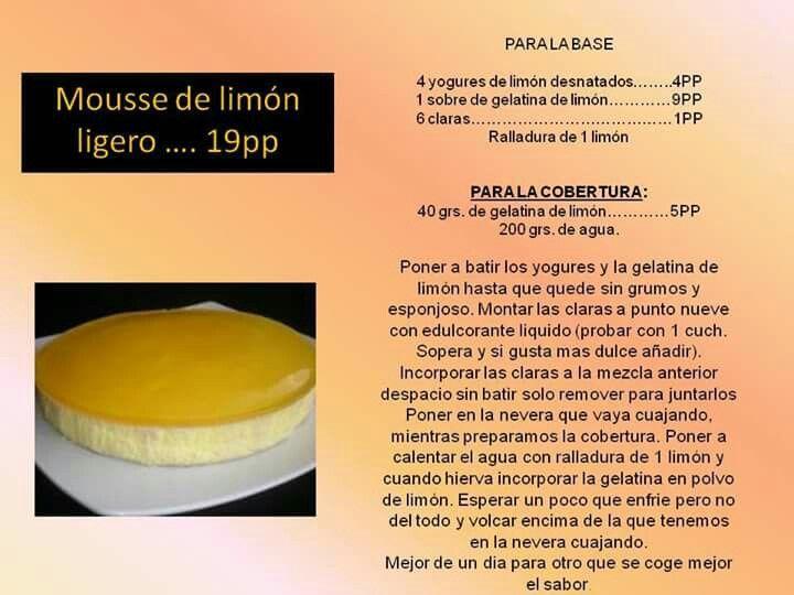 Mousse de limón ligero