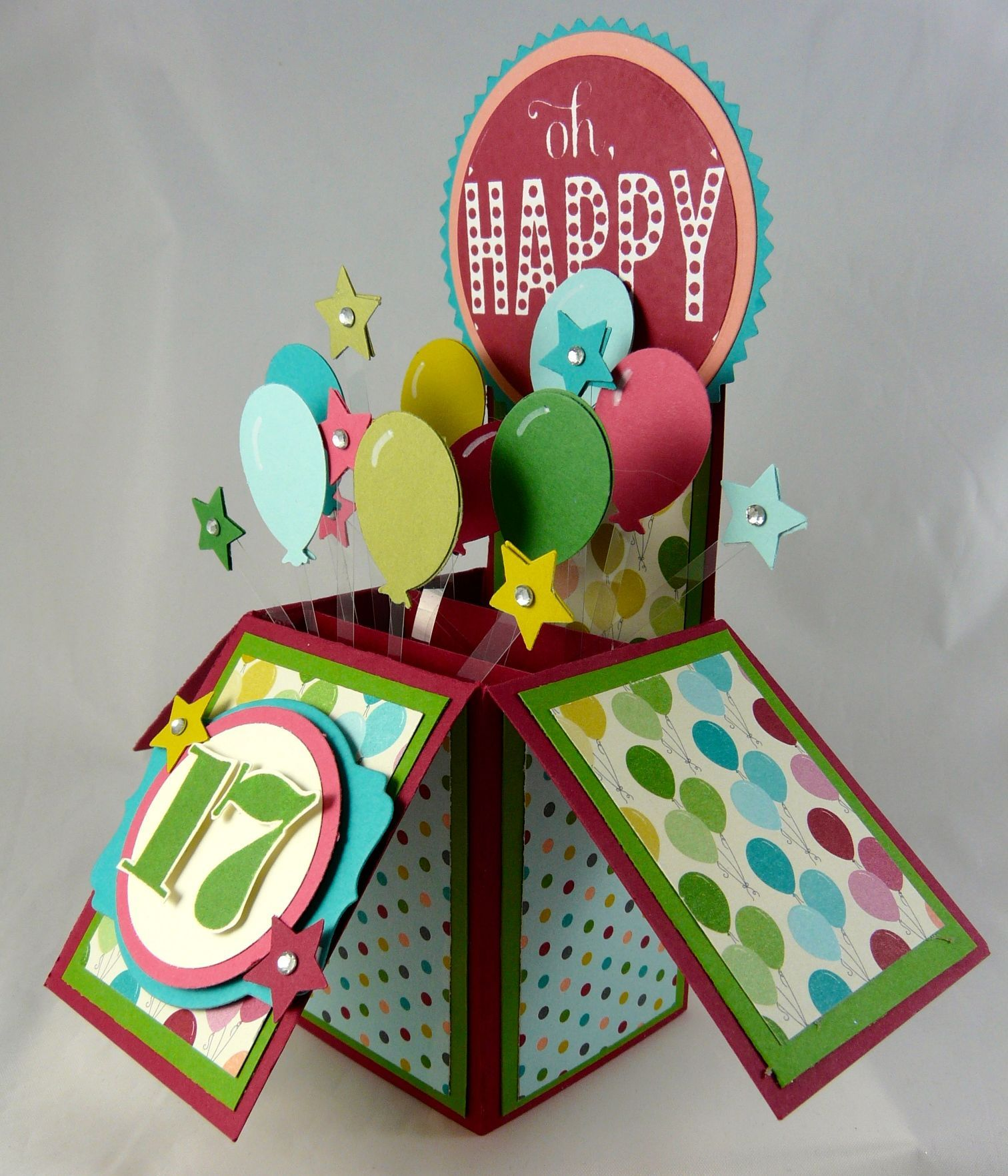 Side view cute Card in a Box Pinterest – Birthday Cards in a Box