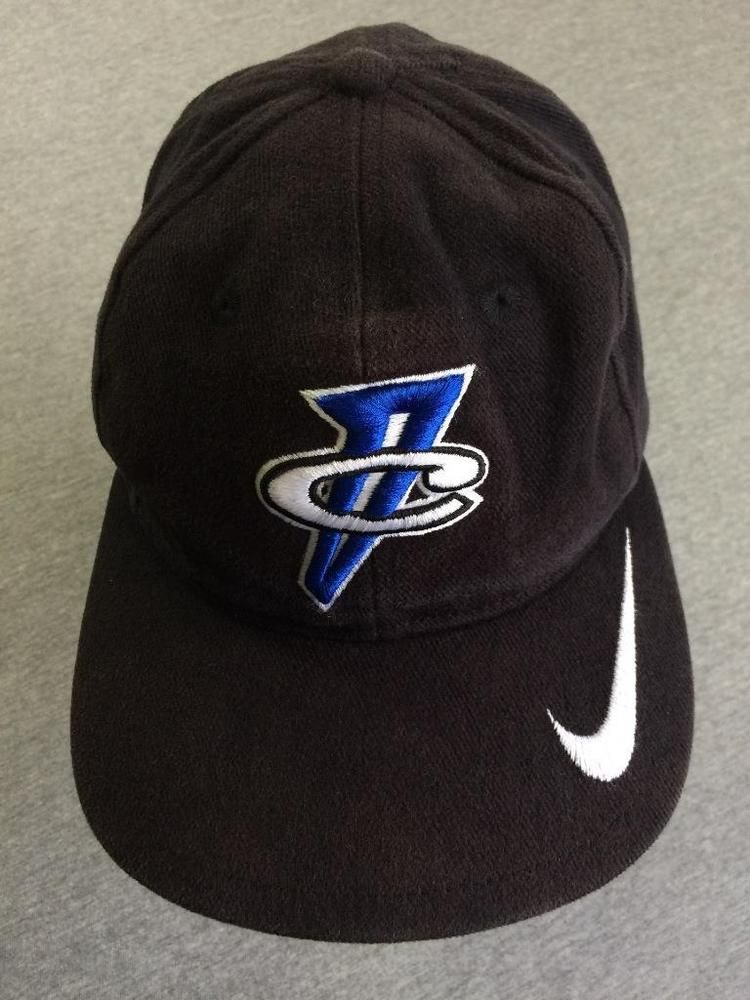 Vintage NIKE AIR MAX Penny Hardaway 1 Cent Snap Back HAT Cotton Sewn Black  EUC