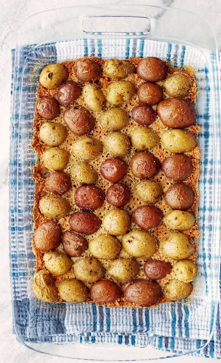 Crispy Parmesan Crusted Baby Potatoes