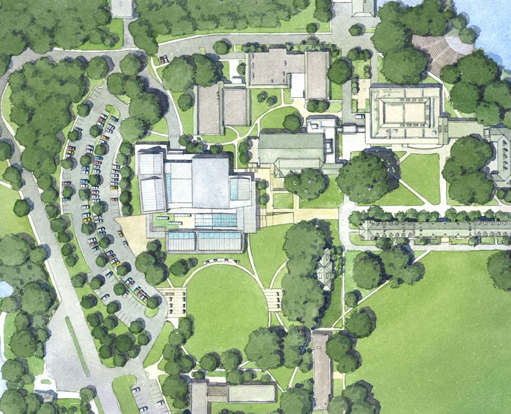 Reed College Performing Arts Building Site Plan Opsis