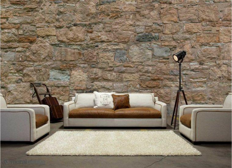 Papier Peint Imitation Pierre Decoration Murale Originale Home Home Decor Sectional Couch