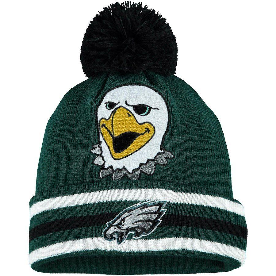 7b7d2adfb60 Preschool Philadelphia Eagles Midnight Green Mascot Trooper Cuffed Knit Hat  With Pom