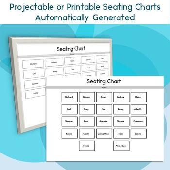 Classroom Seating Chart Attendance Grade Sheet  Behavior