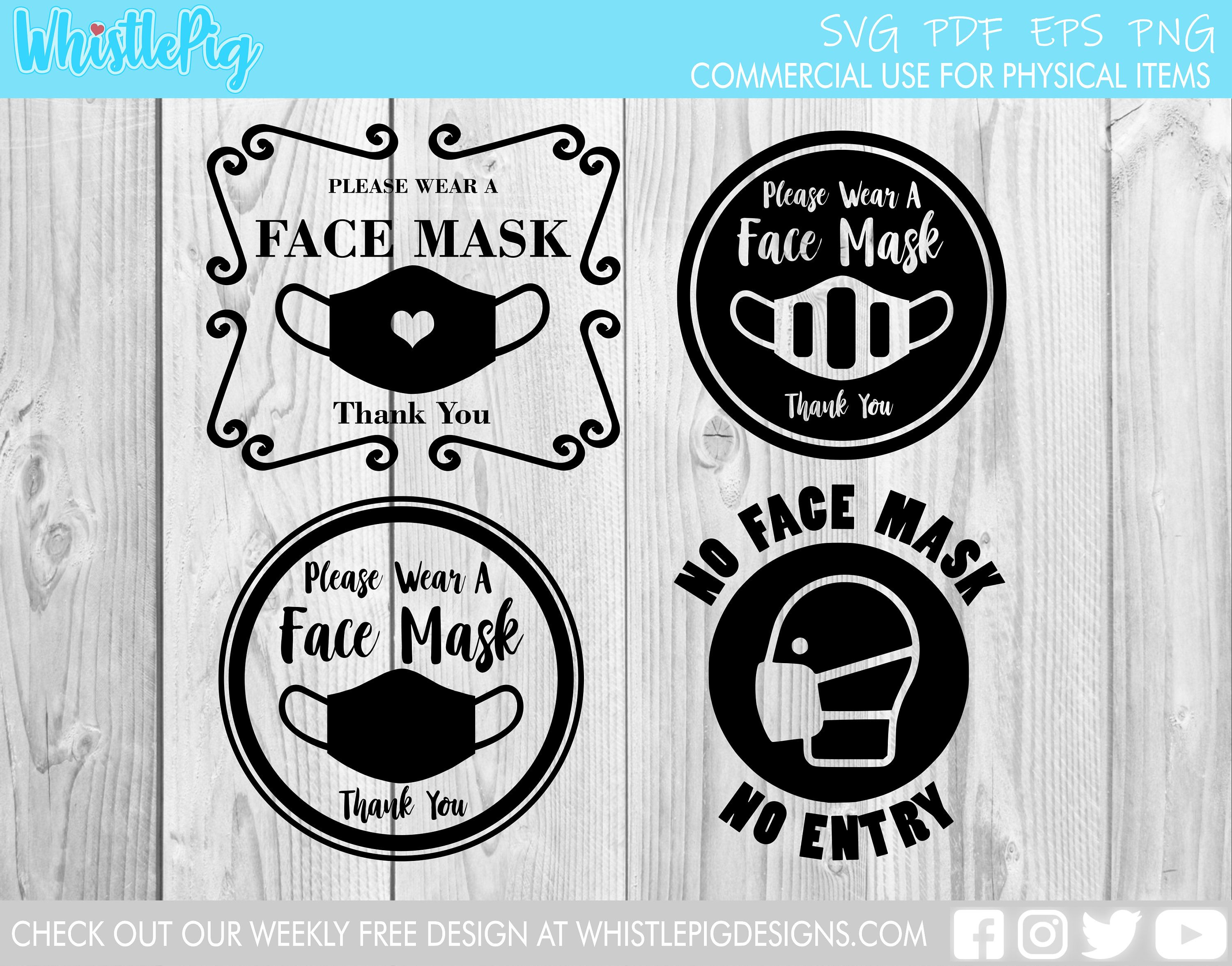 Mask Required Face Mask Social Distancing Vinyl Decal for