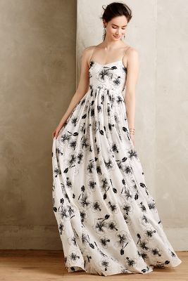 Tracy Reese Beaded Hibiscus Gown #anthrofave