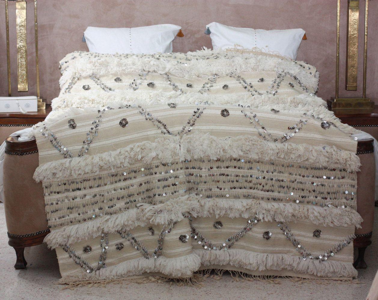 moroccan wedding blanket 100 handmade wool and cotton. Black Bedroom Furniture Sets. Home Design Ideas