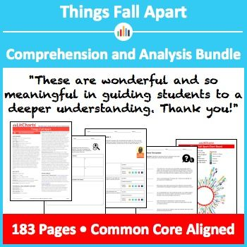Things Fall Apart Comprehension And Analysis Bundle Pinterest