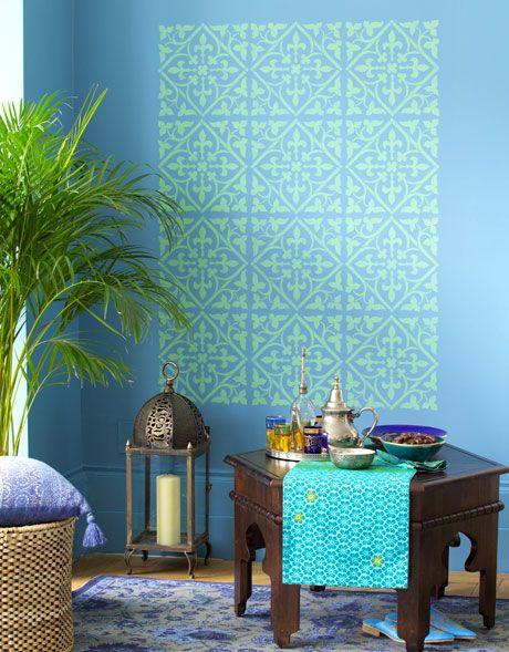 Wandgestaltung orientalische muster wie aus 1001 nacht - Wandschablonen schlafzimmer ...