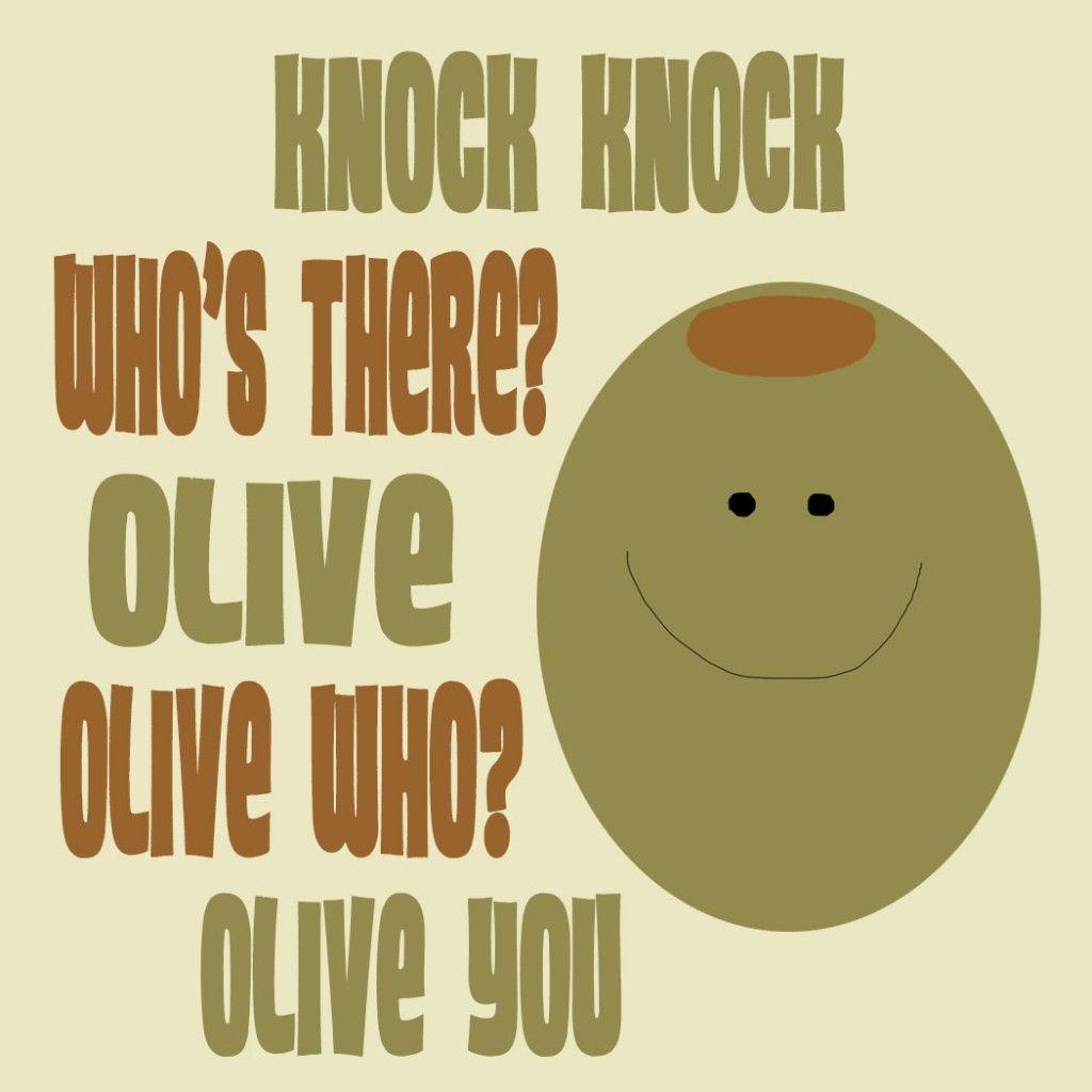 olive joke and illustration Olive jokes, Printable lunch