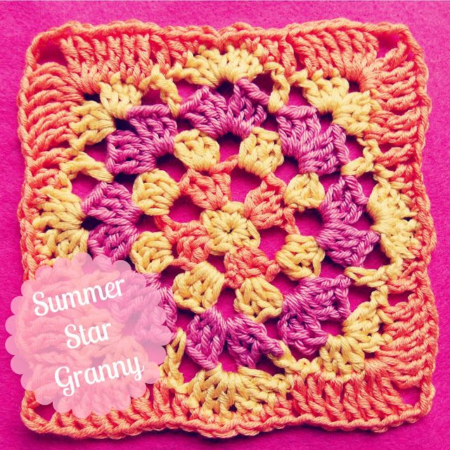 Summer Star Granny by Amanda of kardiomuffelchen. Free pattern ...