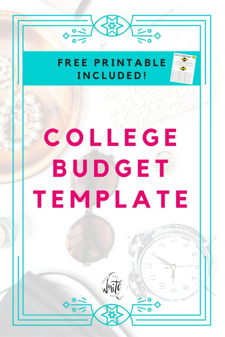 college budget template free printable for students budgeting