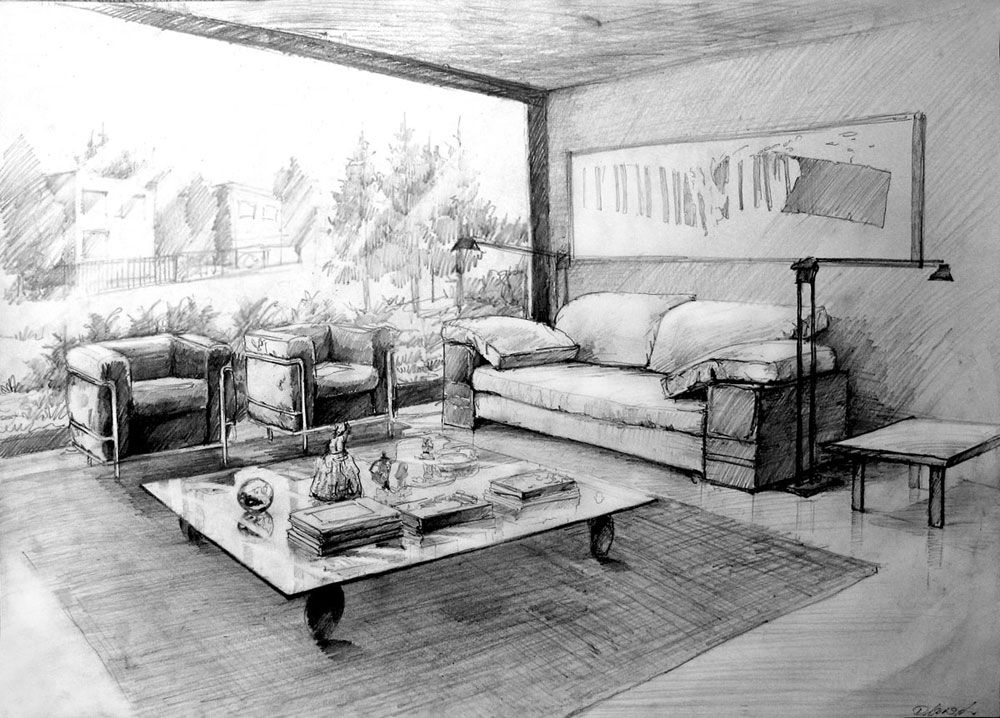 Interior01 By Hipiz On Deviantart Interior Design Drawings Interior Architecture Drawing Interior Design Renderings
