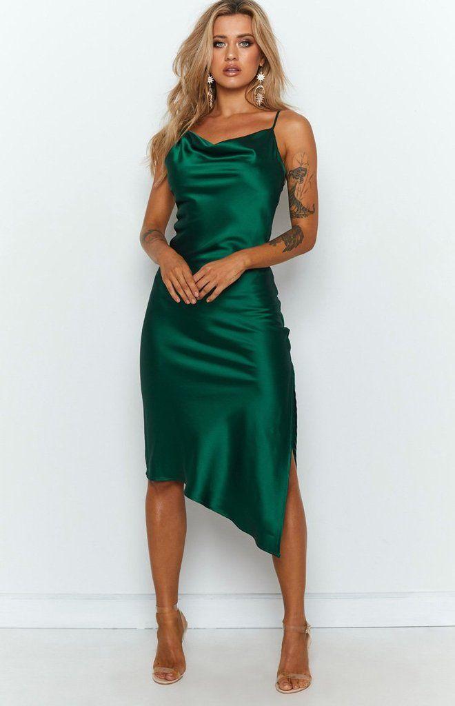 44++ Satin green dress ideas