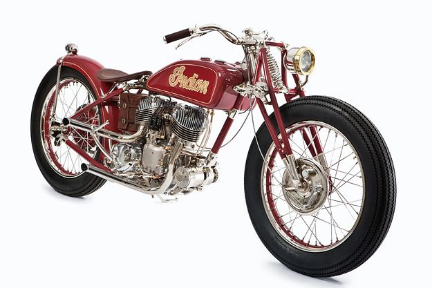 This 1940 Indian Scout has been transformed into a 1920s-style custom by Jesse Bassett of Ohio builders The GasBox.