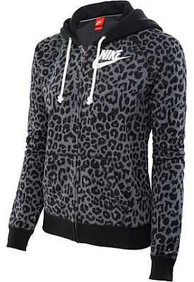 classic shoes fast delivery picked up NIKE RALLY CHEETAH FULL-SIP HOODIE IN BLACK | I love | Nike ...