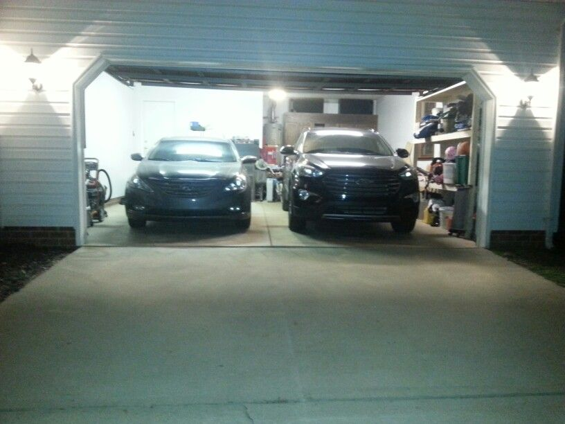 Finaly  both in the garage