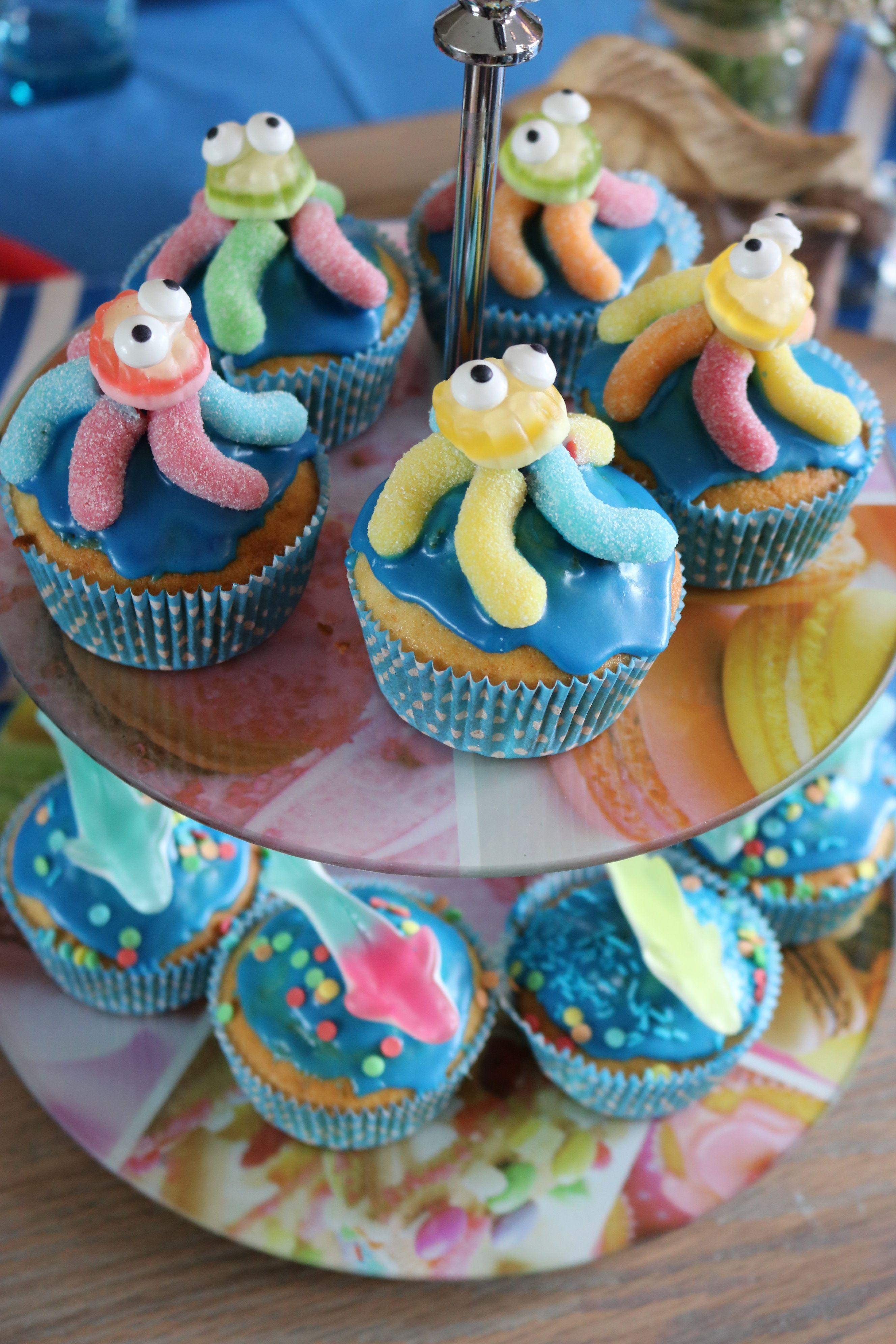 Geburtstagskuchen, Kinder Muffins Kraken 1. Geburtstag   Kinder muffins, Muffins ...