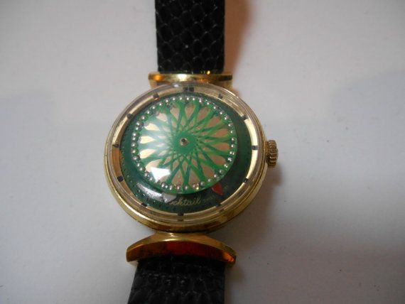 Vintage ERNEST BOREL Ladies Kaleidoscope Cocktail Watch Marked ... 2f47192f70f
