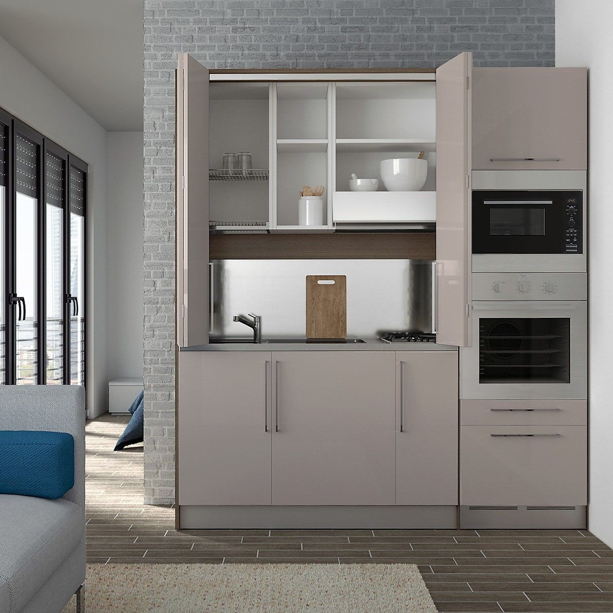 Wolly Custom Compact Hideaway Kitchen