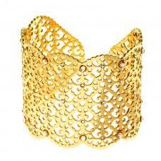 Bracciale schiava Metallo dorato e cristalli