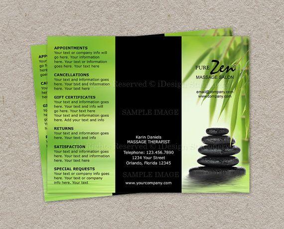 Massage Business Brochure Design Custom by iDesignStationery, $17.95 ...