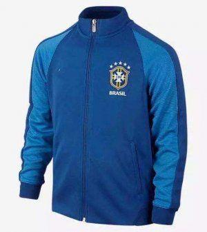 eb7b3761711f 2016 Brazil National Team N98 Blue Track Jacket  E699