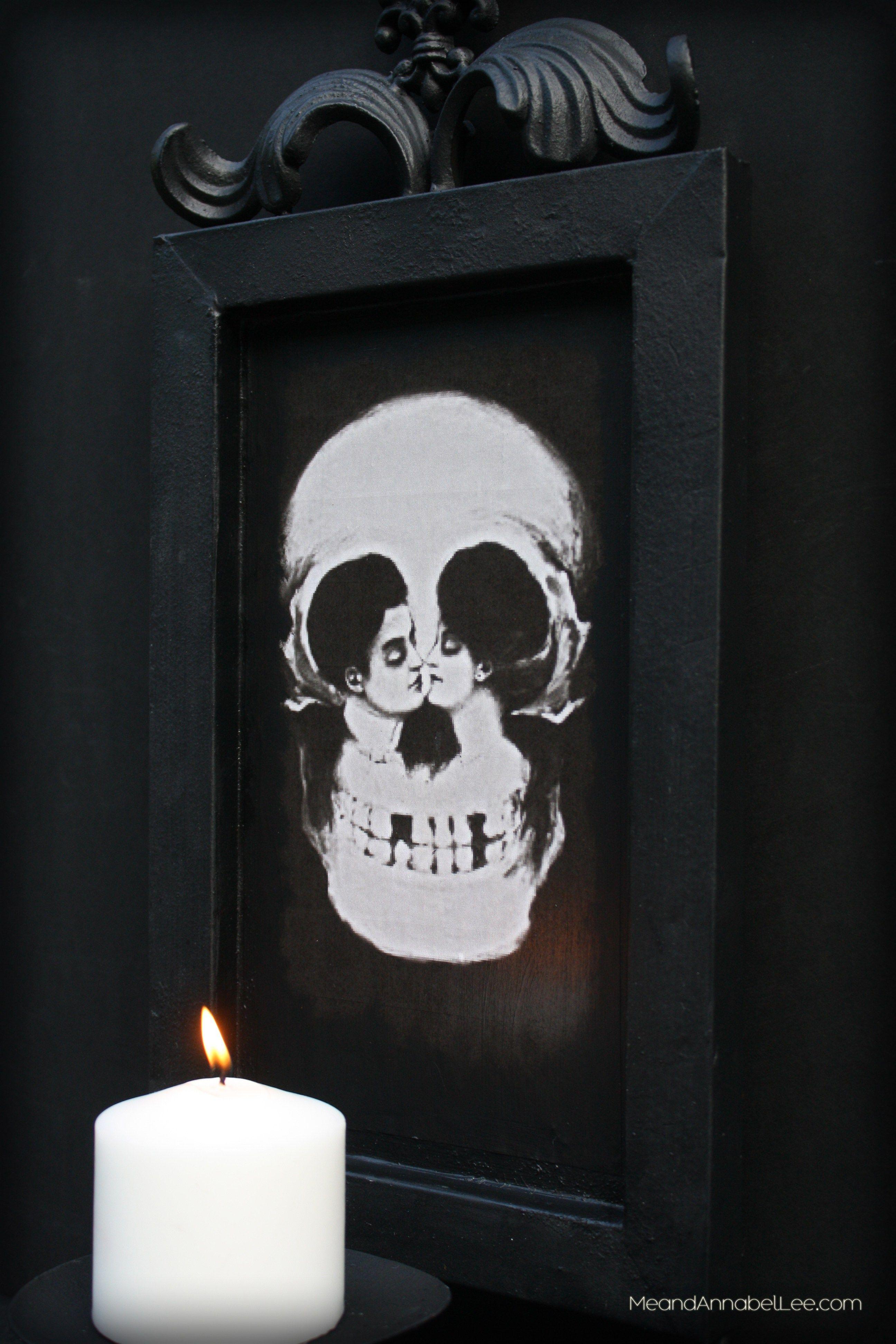 Metamorphic skull art transfer an image to metal using mod podge