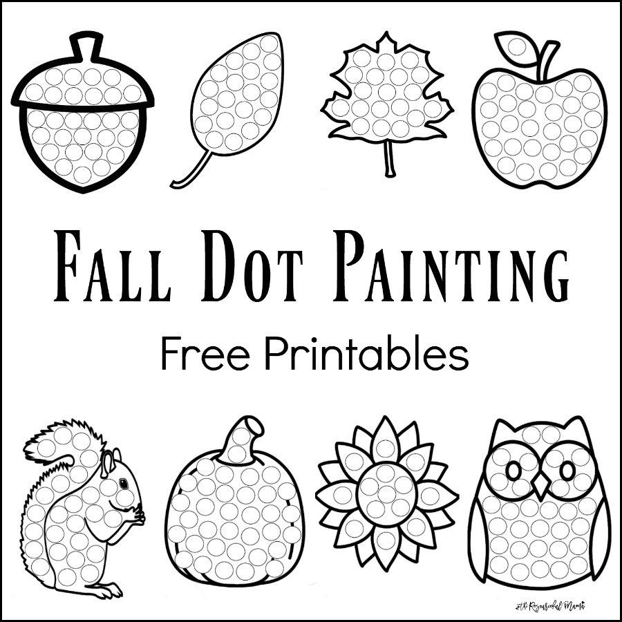 fall dot painting free printables do a dotpainting activitiespreschool - Free Painting Games For Preschoolers