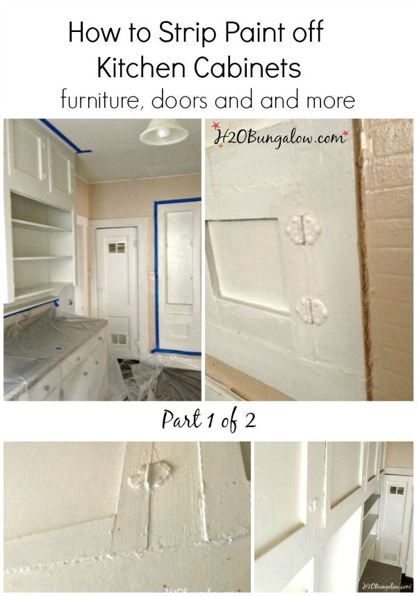 How To Strip Paint Off Kitchen Cabinets And Furniture Part 1 Of 2 Has A Thorough Supply List Prepare For Stripping Any Size Project