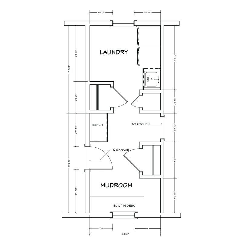 Mudroom Laundry Room Floor Plans