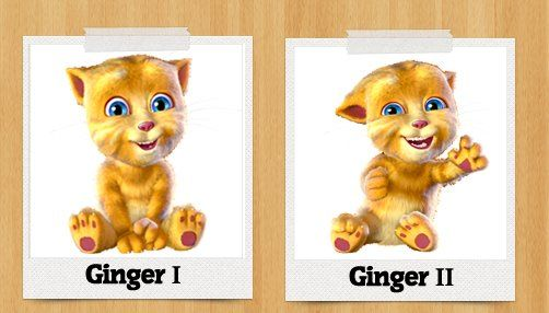 It's time to give our Talking Ginger a new profile for Facebook ! Ginger I or Ginger II ?