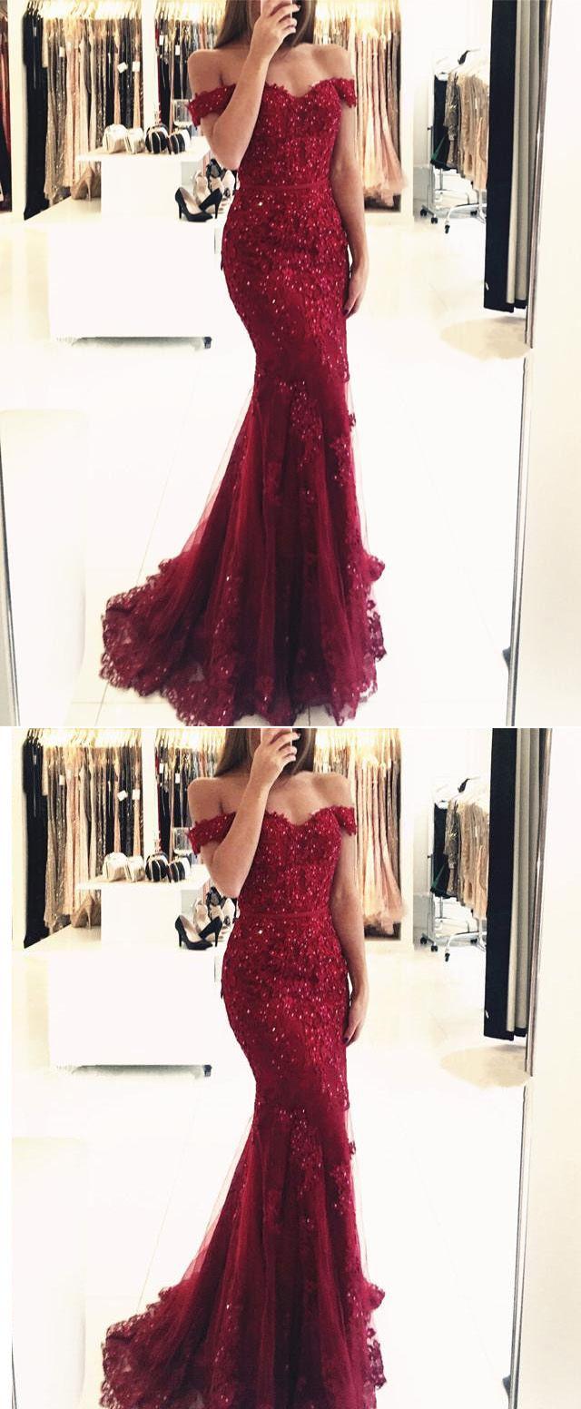 Women formal mermaid lace purple prom dresses long pl in