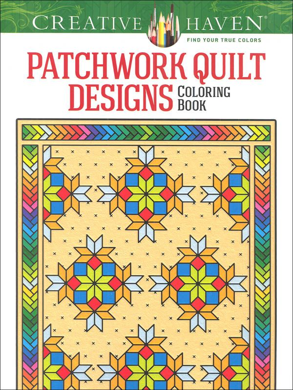 Patchwork Quilt Designs Coloring Book Creative Haven Main