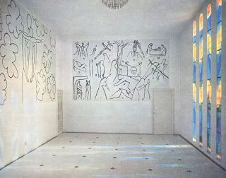 Inspired Chapel. In 1947, around the time he published Jazz, his famous book of paper cutouts,  Henri Matisse began work on what was to become his other great late-in-life masterpiece, the Chapelle du Sainte Marie du Rosaire in Vence, in the south of France.