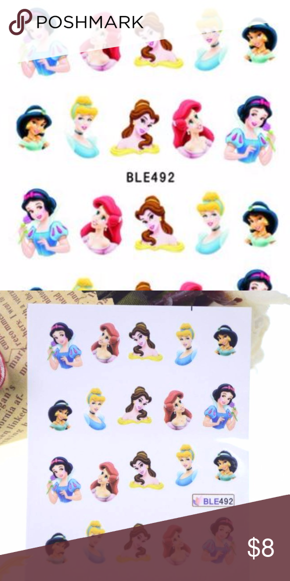 Disney Princesses Water Transfer Nail Decals | Water transfer, Nail ...